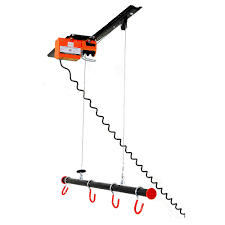 Racor Ceiling Mount Bike Lift by Garage Gator 125 Lb Capacity Motorized Garage Ceiling Storage