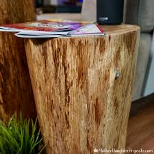 modern tree stump furniture mother daughter projects
