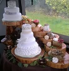 Wedding Tea Parties Party Wood Cake Woodland Rustic Stands Cakes Weddings Logs