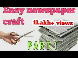 Easy Newspaper Craft For Kids