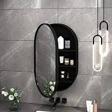 kaisimys led badezimmerspiegelschrank ovaler wandschrank