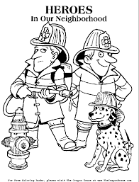 Sparky Coloring Pages 20 Firefighter For Kids