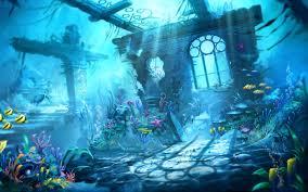 Oceans Beauty Scene Water Blue Mermaid Sharks Ocean Underwater