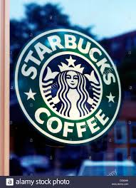Close Up Of Starbucks Coffee Logo Stock Image