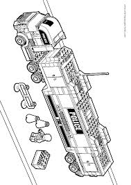 Free Coloring Pages Lego Letscoloringpages Mega Truck