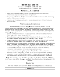 Resume Templates Administrative Assistant Good Sample For Valid Personal