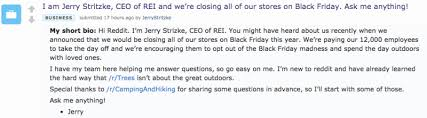 REI CEO Goes Reddit Employees Say How Much It Sucks To Work