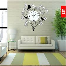 Wall Decor With Clock Decorative Clocks For Living Room Continental Iron