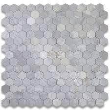 carrara marble tile italian white 3 inch hexagon mosaic
