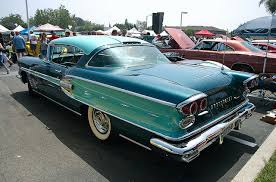 1958 Pontiac Bonneville 2 Dr HT Turquoise Over Dark Blue Green