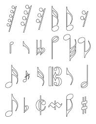 All Of Music Notes Coloring Page Free Printable Pages