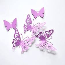 Wall Decor Butterflies Purple Butterfly Birthday Paper Party Decoration Outdoor