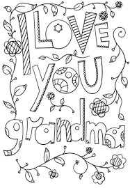 Click To See Printable Version Of I Love You Grandma Doodle Coloring Page