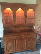 Henredon Walnut China Cabinet by Antique Furniture Ebay