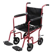 Transport Chair Or Wheelchair by Deluxe Fly Weight Aluminum Transport Chair With Removable Casters