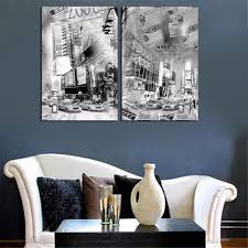 Black And White Calligraphy Paris Ink Painting On Canvas Street Scenery Poster Newspaper Picture Living Room Background Murals In