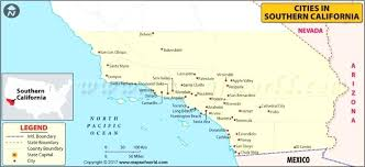 Map Of Southern Cities Northern California And Towns