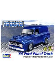 100 1955 Ford Panel Truck Revell Model Sports All RadiosMotors
