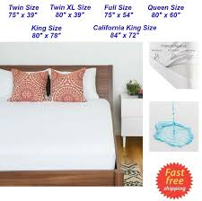 Dust Mite Bed Covers by King Mattress Topper Soft U0026 Quiet Waterproof Mattress Bed