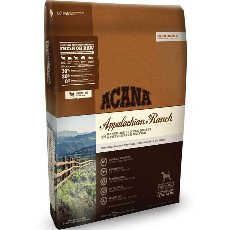 ACANA Regionals Appalachian Ranch Dry Dog Food, 4.5 lbs