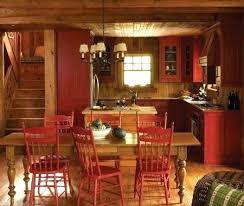 Rustic Red Kitchen Cabinets Barn Wood Fascinating Painted