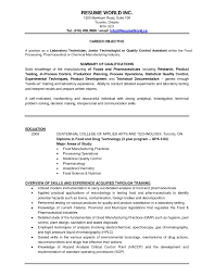 Chemical Lab Technician Resume Awesome Laboratory Examples April Onthemarch Of