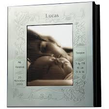 cadre photo album thème naissance personnalisable métal