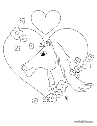Horse Rider In Love Coloring Page