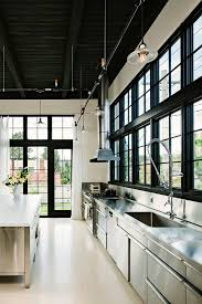 industrial track lighting with range kitchen industrial and