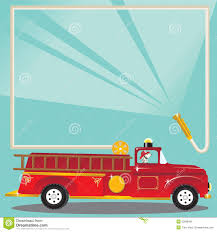 Firetruck Birthday Party Invitation Stock Vector - Illustration Of ...