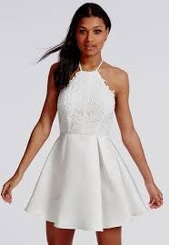 lace skater dress white naf dresses