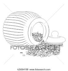Stock Illustration Of Sketch Coffee Beans Spilling Ou K25054199
