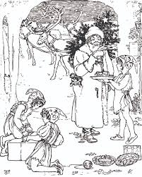 FREE Vintage Christmas Coloring Page For Adults