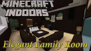 Minecraft Pe Living Room Designs by Minecraft Indoors Elegant Family Room Youtube