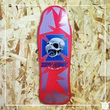 Powell Peralta Tony Hawk Skateboard Decks by Tony Hawk Bones Brigade Reissue Ultimate Distribution