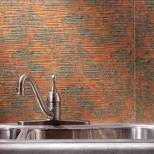 Copper Tiles For Backsplash by Hammered Copper Backsplash Sheets