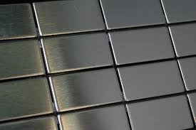 stainless steel mosaic tile sheet 23 mm x 48 mm x 4 mm model
