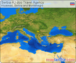 Serbia 4U Doo Travel Agency Satellite Map