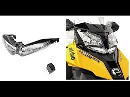 ski doo auxilary led headlight install on 2014