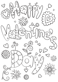 Happy Valentines Day Best Picture Coloring Pages Printable