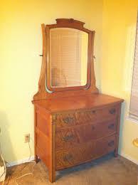 Tiger Oak Dresser Beveled Mirror by Tiger Oak Dresser Antique Appraisal Instappraisal