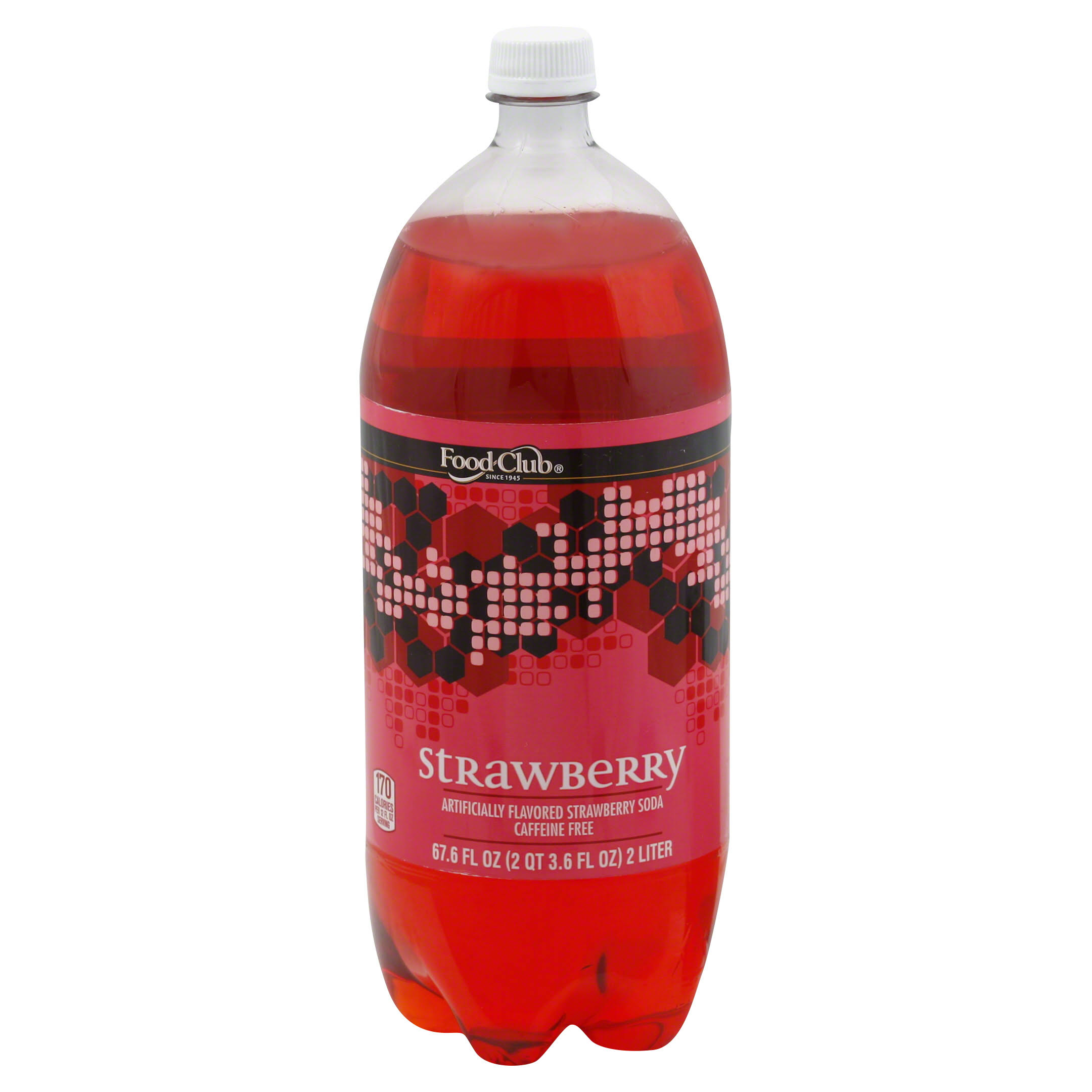 Food Club Soda, Strawberry - 67.6 fl oz
