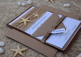 Beach Wedding Invitation Starfish Destination Rustic Invitations Unique