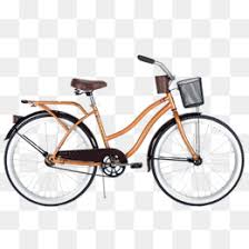 Orange Two Wheeled Bike Free Matting