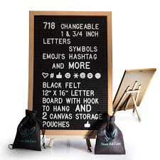 Amazoncom Black Felt Letter Board With Easel Stand 12 X 16 718