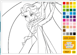 Free Coloring Online Pages Disney Princesses In Princess Book Game For Kids