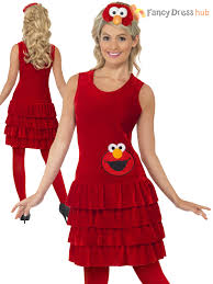 Ladies Sesame Street Costume Adults Big Bird Elmo