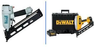 Flooring Nailer Vs Stapler by Which Type Of Nail Gun Or Nailer Do You Need For The Job Dengarden
