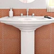 Home Depot Merola Penny Tile by Somertile 12 X 12 625 Inch Penny Snowcap White Porcelain Mosaic