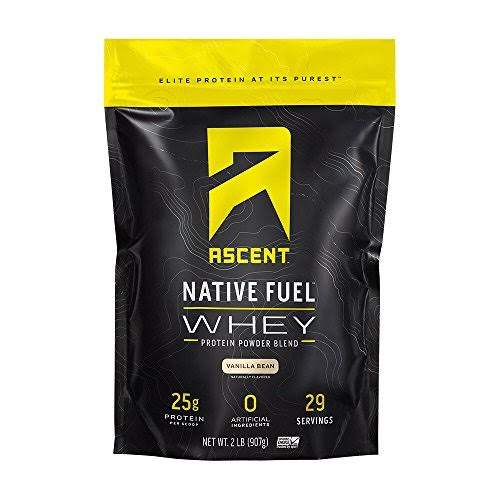 Ascent Native Fuel Whey Protein Powder - Vanilla Bean, 2lbs